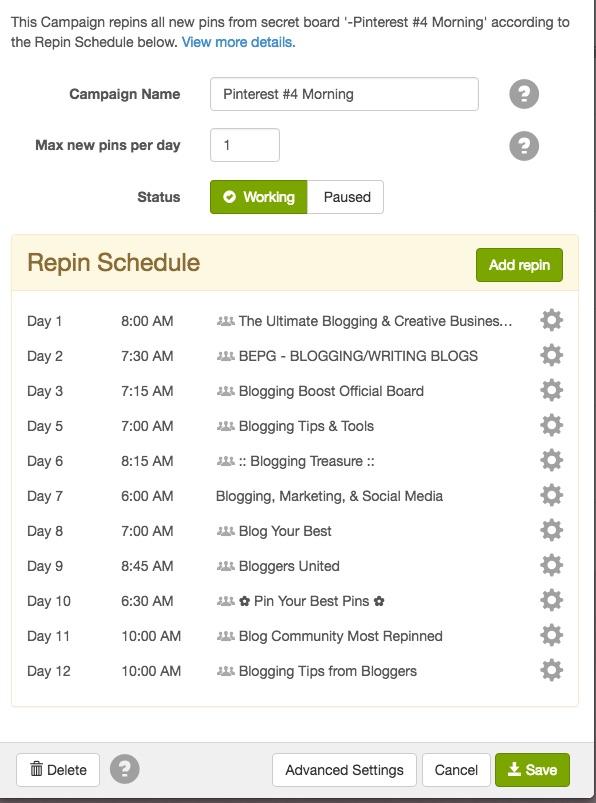 BoardBooster Scheduled Campaigns