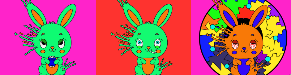 Trippy Bunny Tribe is an awesome Solana NFT